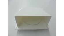 Luchtafvoer rooster kleur wit met klep 100 mm